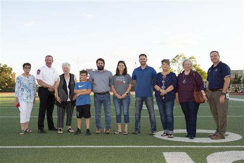 First Chaparral Elite induction class on football field